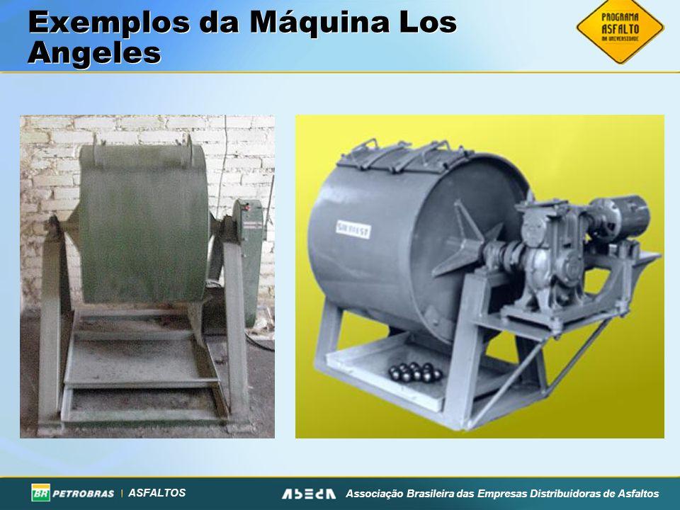 ASFALTOS Associação Brasileira das Empresas Distribuidoras de Asfaltos Exemplos da Máquina Los Angeles