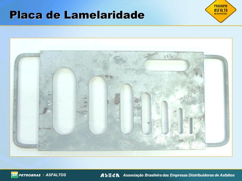 ASFALTOS Associação Brasileira das Empresas Distribuidoras de Asfaltos Placa de Lamelaridade