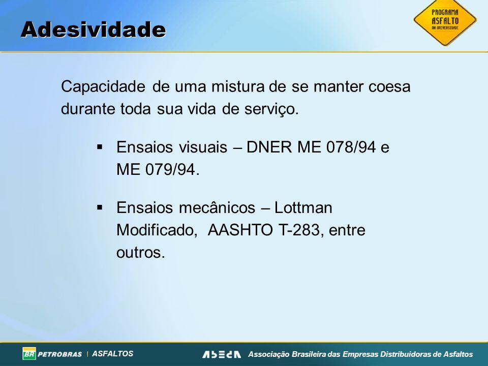 ASFALTOS Associação Brasileira das Empresas Distribuidoras de Asfaltos Capacidade de uma mistura de se manter coesa durante toda sua vida de serviço.