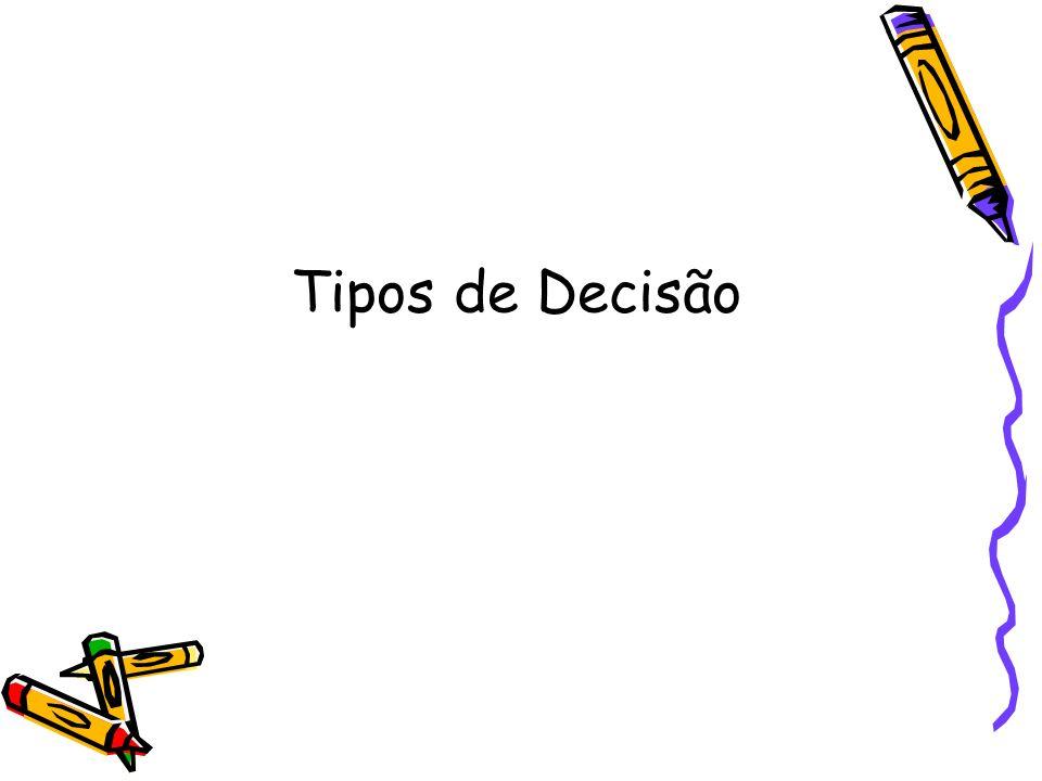 Tipos de Decisão