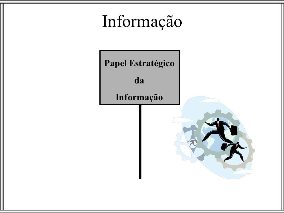 Informação estratégica Em toda empresa, as informações se interligam, não permanecendo isoladas em um determinado setor; As informações não produzem resultados se isoladas em órgãos