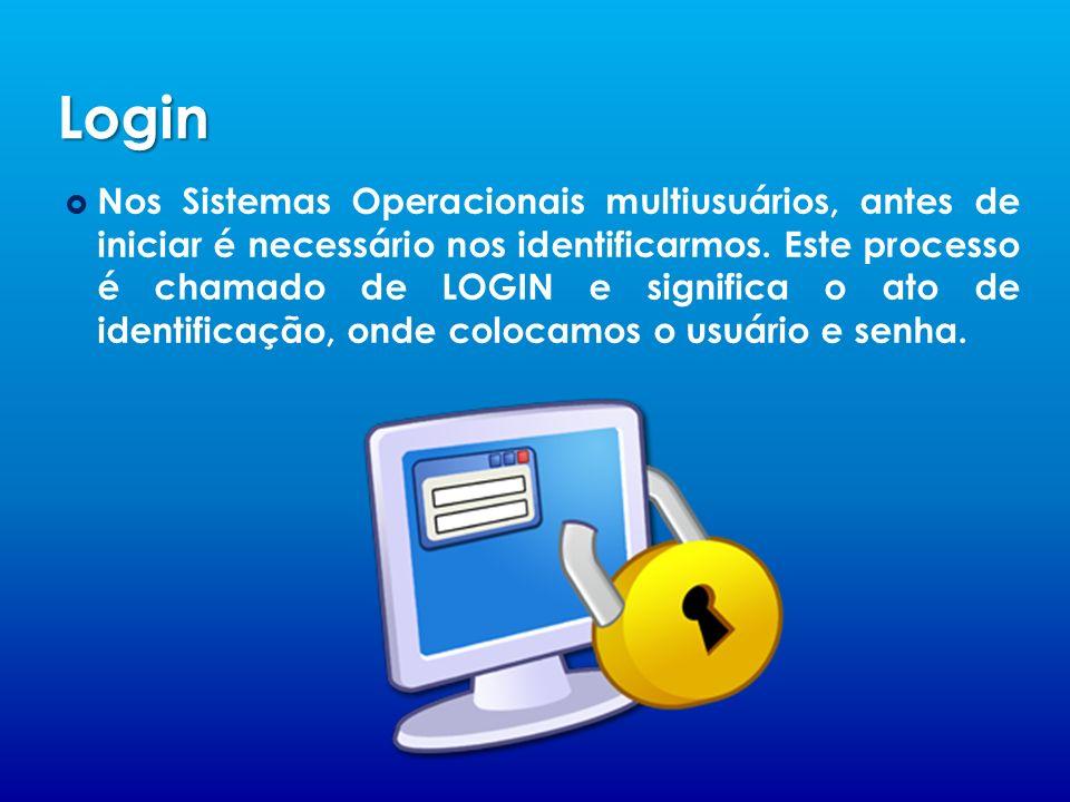 Login Nos Sistemas Operacionais multiusuários, antes de iniciar é necessário nos identificarmos.