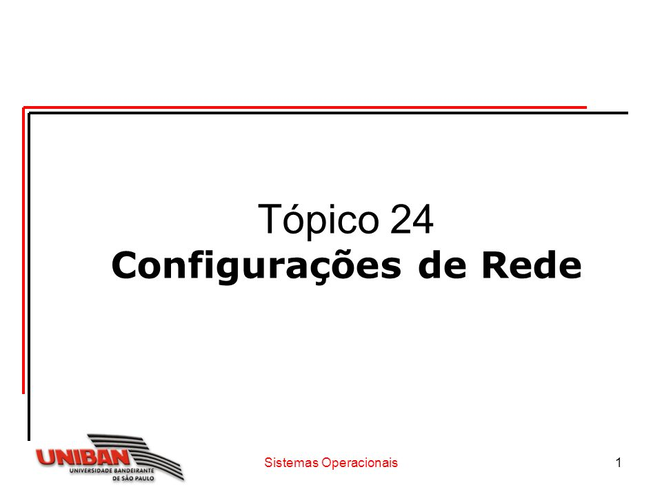 Sistemas Operacionais12 Redes Windows