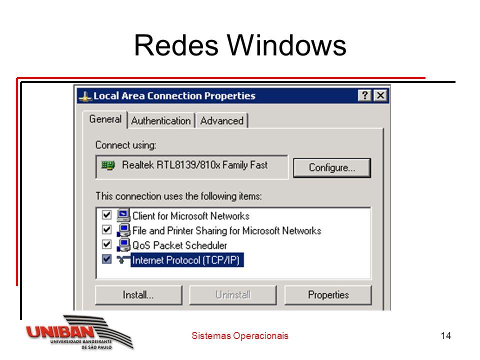 Sistemas Operacionais14 Redes Windows