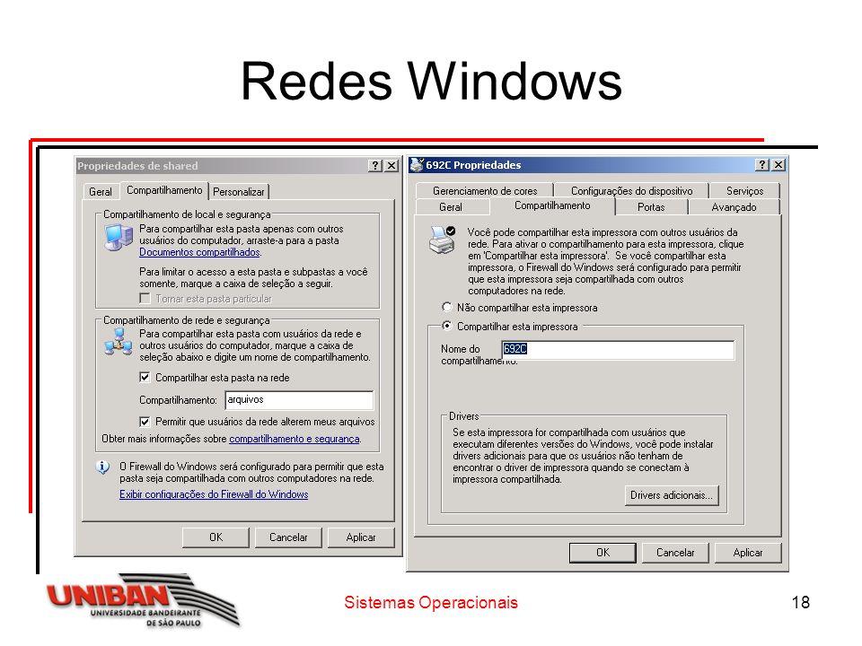 Sistemas Operacionais18 Redes Windows