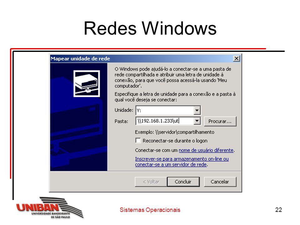 Sistemas Operacionais22 Redes Windows