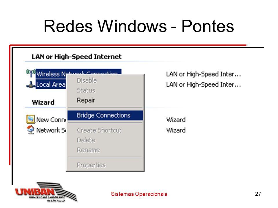 Sistemas Operacionais27 Redes Windows - Pontes