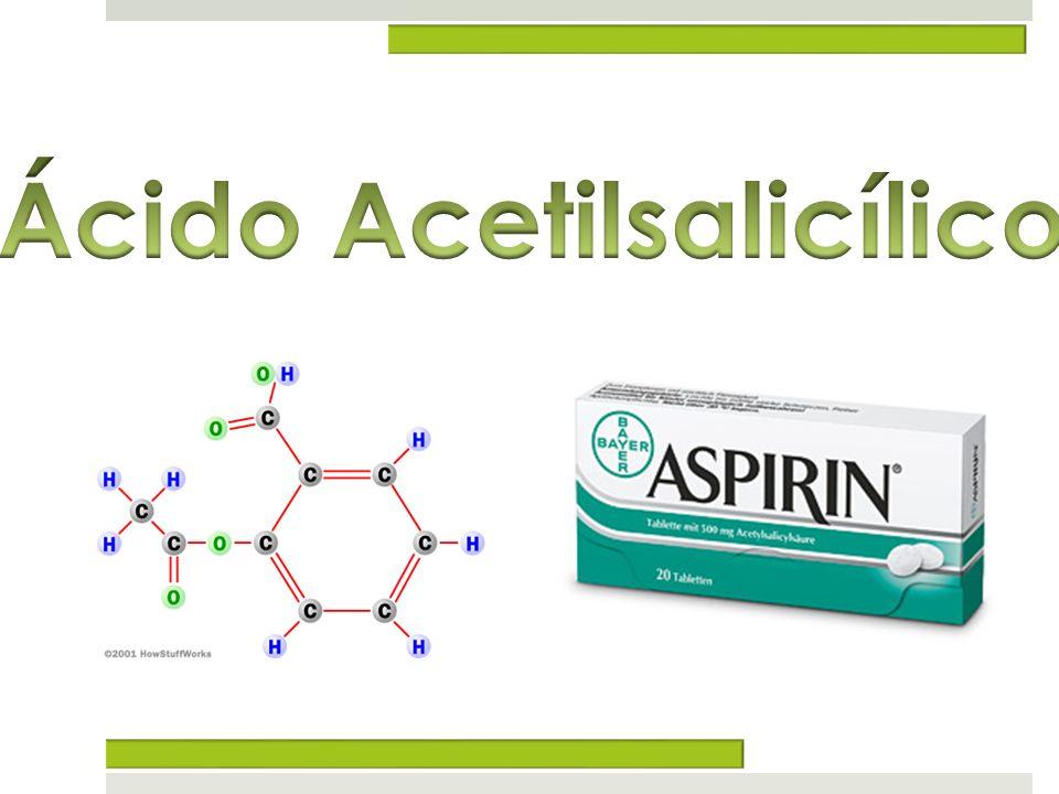 AAS e sinalização celular O ácido acetilsalicílico é o princípio activo da aspirina e é extraído das folhas de salgueiros Hoje, a aspirina é a droga mais popular e vendida em todo o mundo.