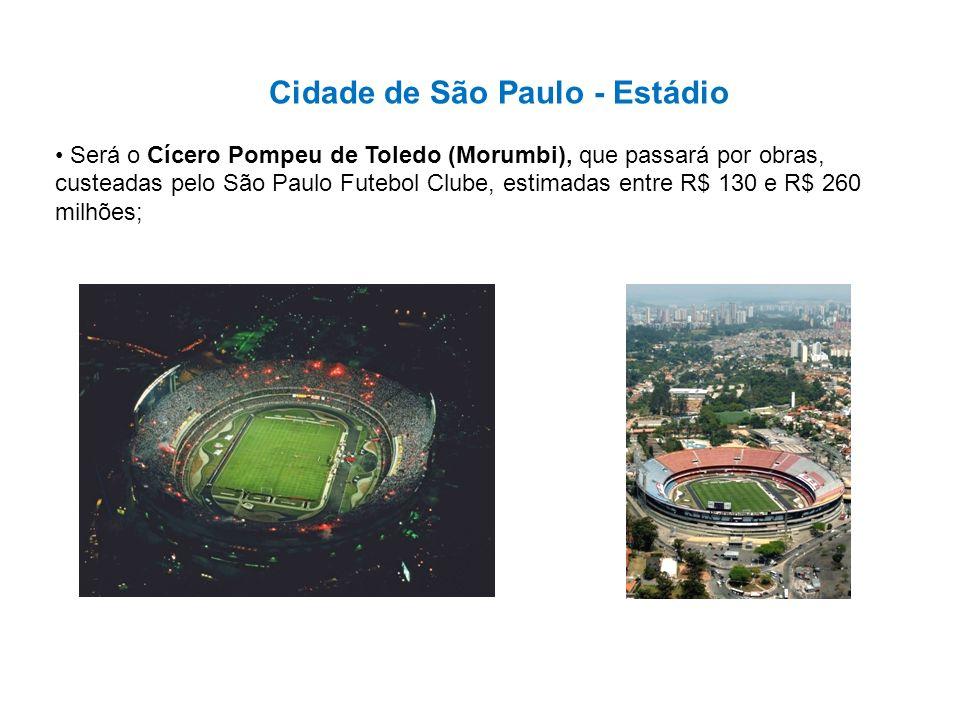 Cidade de São Paulo - Estádio Será o Cícero Pompeu de Toledo (Morumbi), que passará por obras, custeadas pelo São Paulo Futebol Clube, estimadas entre