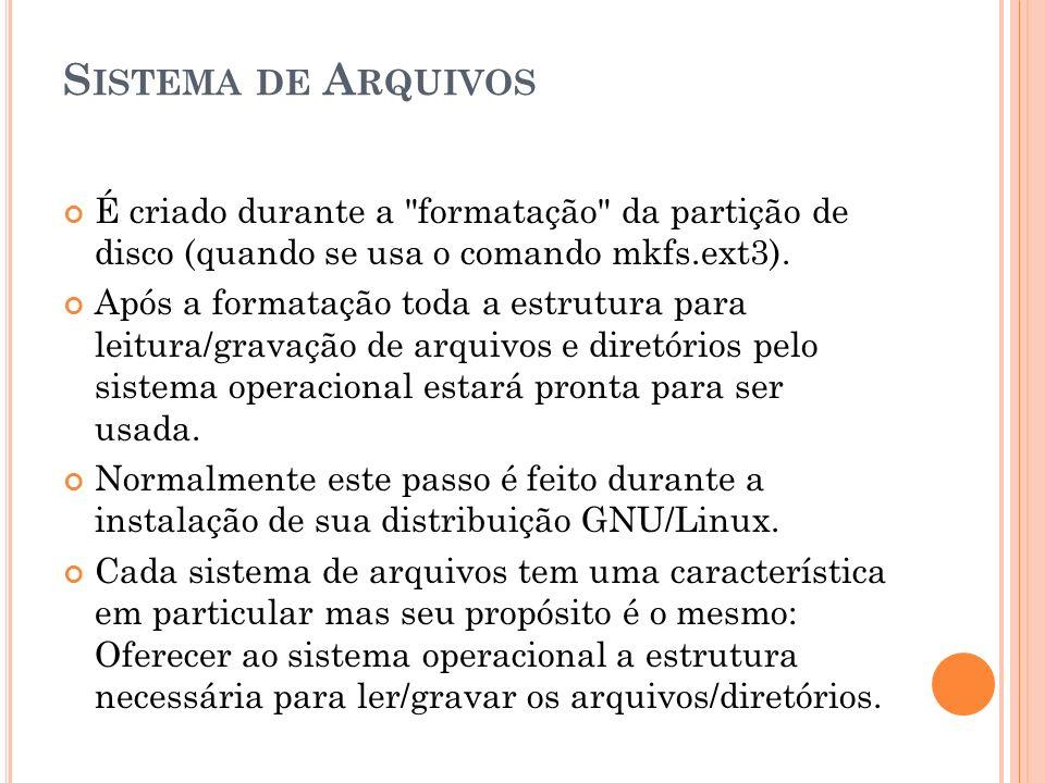 REPRESENTAÇÃO DE ÁRVORE DE NÓS ReiserFS