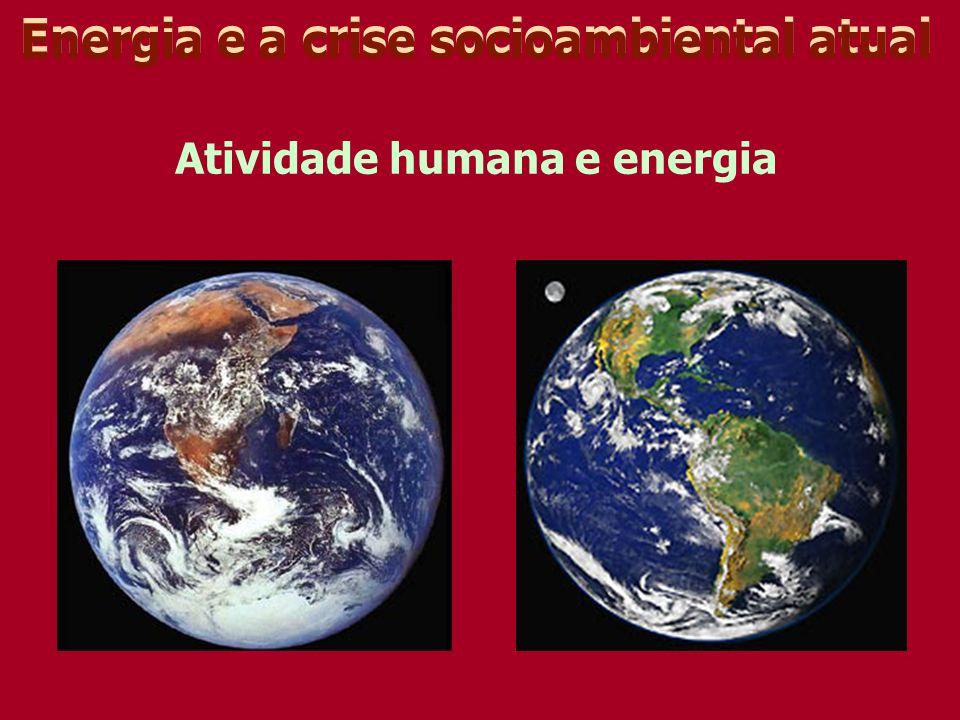 Energia e a crise socioambiental atual Atividade humana e energia