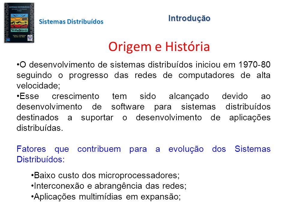O desenvolvimento de sistemas distribuídos iniciou em 1970-80 seguindo o progresso das redes de computadores de alta velocidade; Esse crescimento tem sido alcançado devido ao desenvolvimento de software para sistemas distribuídos destinados a suportar o desenvolvimento de aplicações distribuídas.