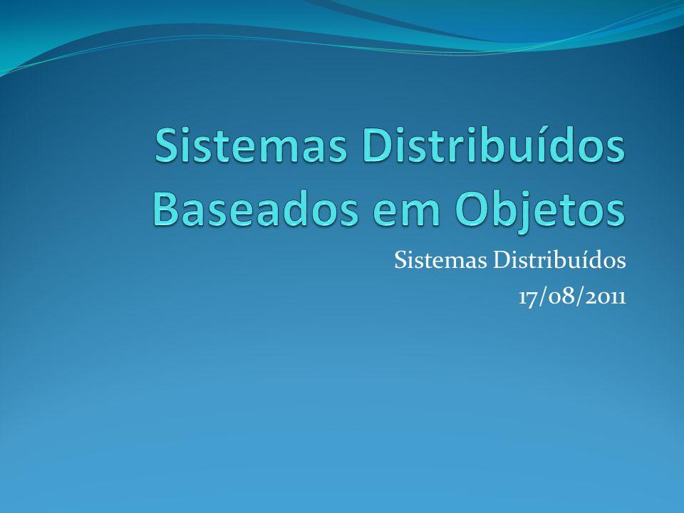 Sistemas Distribuídos 17/08/2011