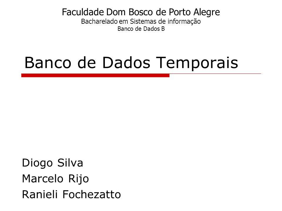 Banco de Dados Temporais Diogo Silva Marcelo Rijo Ranieli Fochezatto Faculdade Dom Bosco de Porto Alegre Bacharelado em Sistemas de informação Banco d