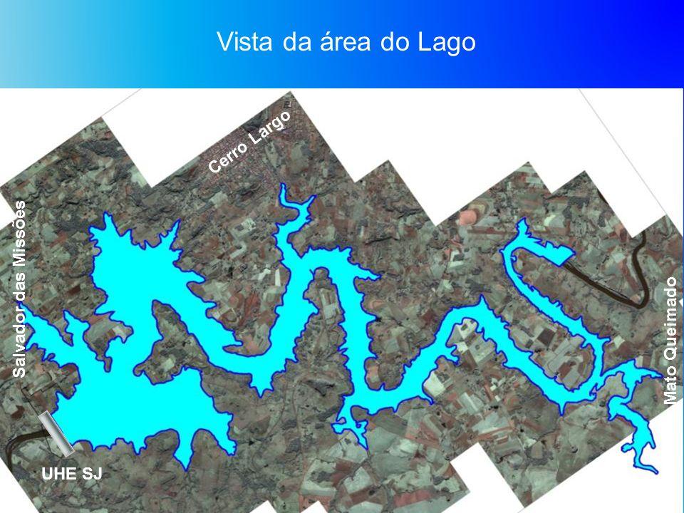 Vista da área do Lago Cerro Largo UHE SJ Mato Queimado Salvador das Missões