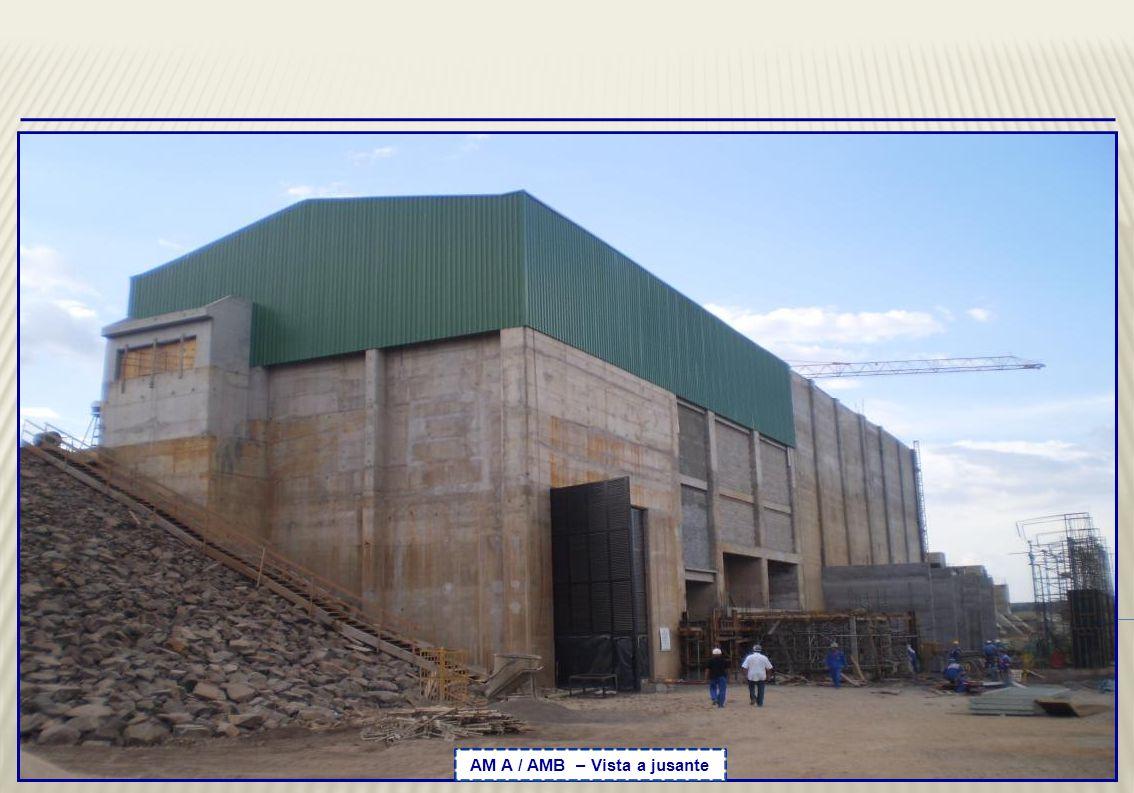 Blocos 13 a 15 – Vista das atividades de reparo nas estruturas