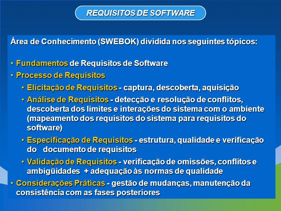 O termo Especificação dos Requisitos de Software refere-se à produção de um documento que deve ser sistematicamente revisado, avaliado e aprovado.