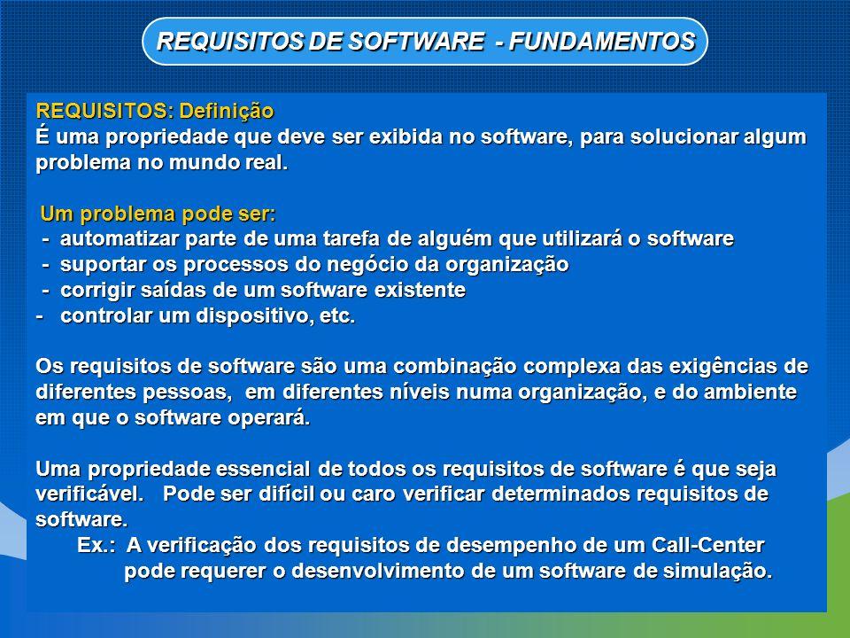 Requisitos do Usuário Declarações em linguagem natural e também em diagramas, sobre as funções que o sistema deve fornecer e as restrições sobre as quais deve operar.