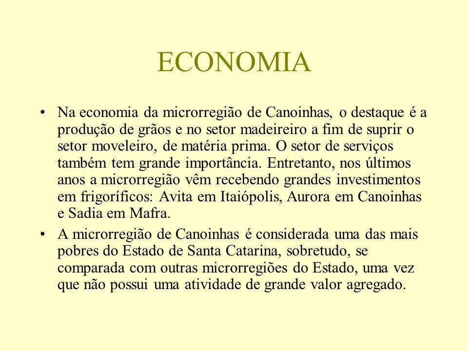 HISTÓRIA A microrregião de Canoinhas em quase sua totalidade, fazia parte da região do Contestado, cuja área foi disputada pelo Estado do Paraná no final do século XIX e início do século XX.