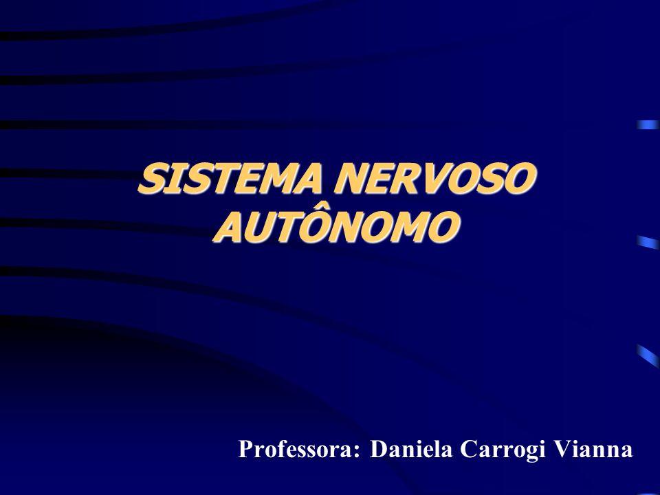 SISTEMA NERVOSO AUTÔNOMO Professora: Daniela Carrogi Vianna