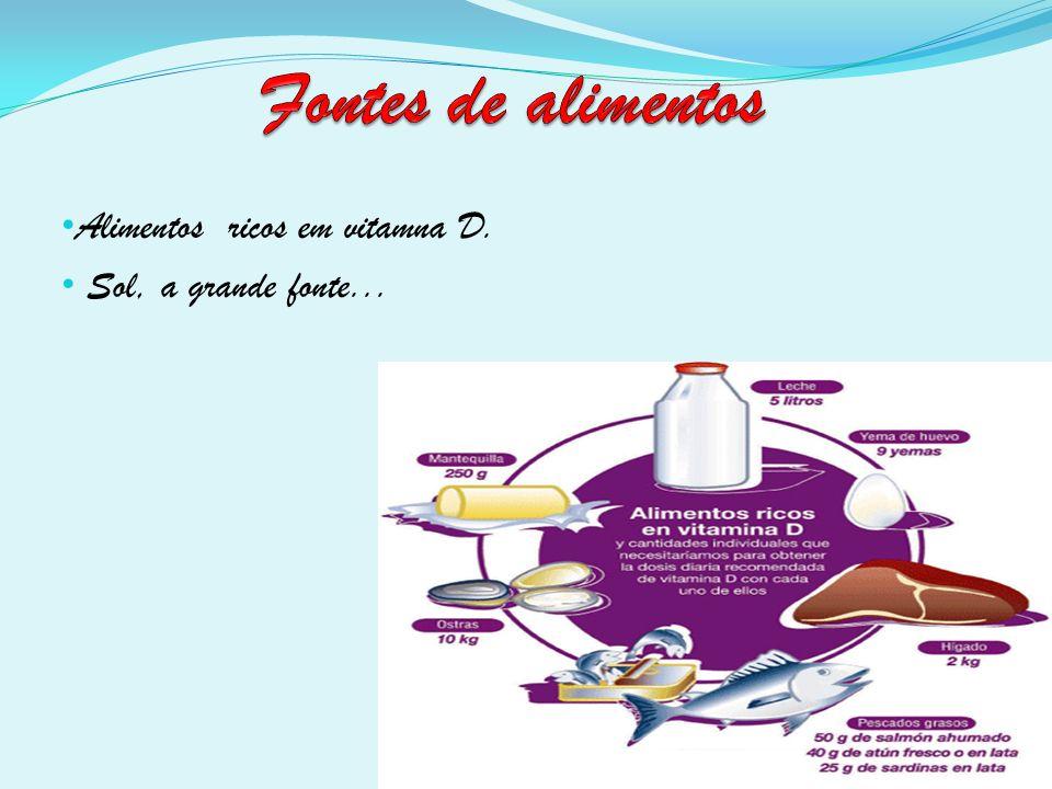 Alimentos ricos em vitamna D. Sol, a grande fonte...
