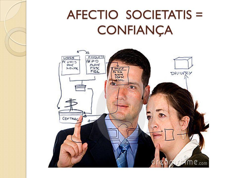 AFECTIO SOCIETATIS = CONFIANÇA