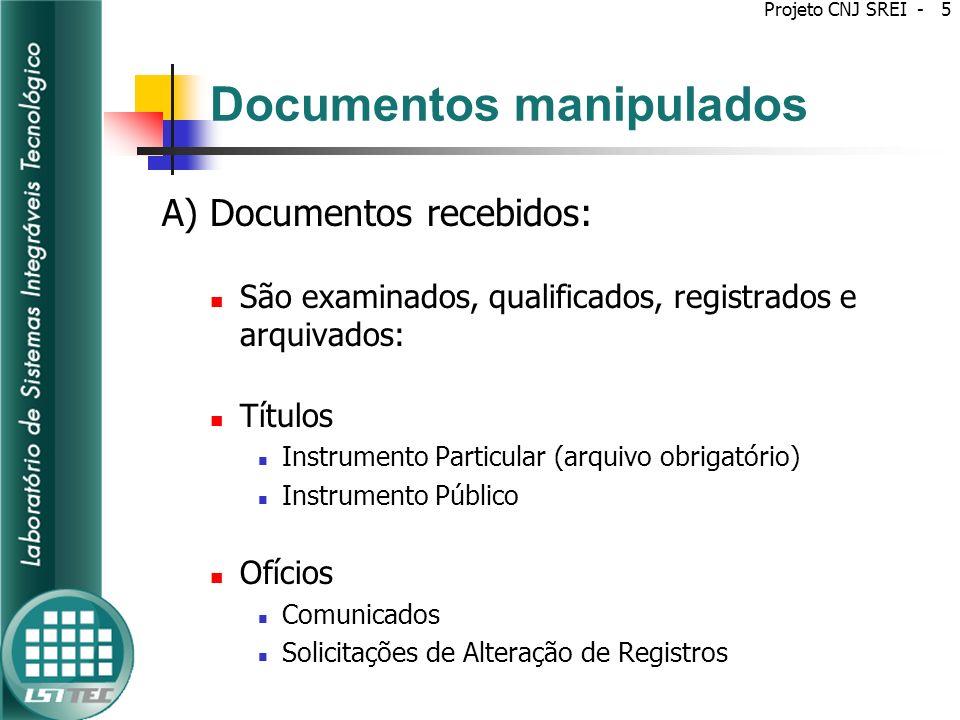 Projeto SREI Dividido em dois subprojetos: Subprojeto 1 - Elaboração de requisitos técnicos para certificação de software de Sistemas de Registro Eletrônico Imobiliário (SREI).
