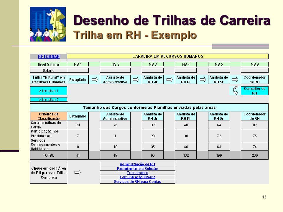 13 Desenho de Trilhas de Carreira Trilha em RH - Exemplo