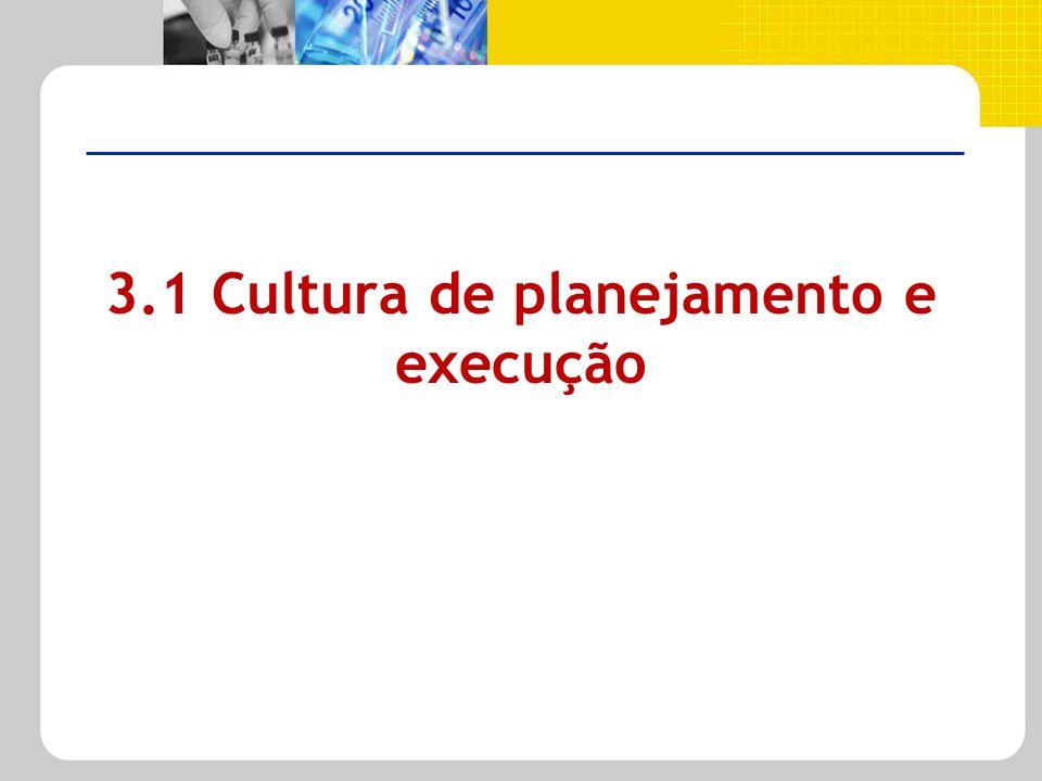 3.1 Cultura de planejamento e execução