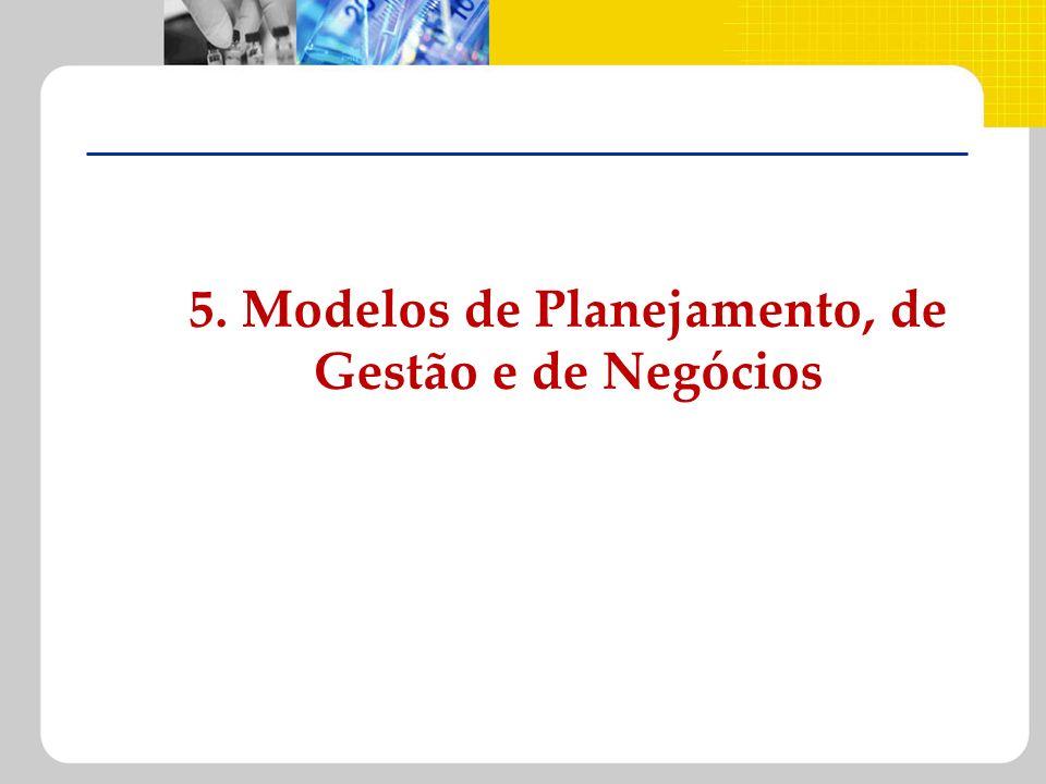 5. Modelos de Planejamento, de Gestão e de Negócios