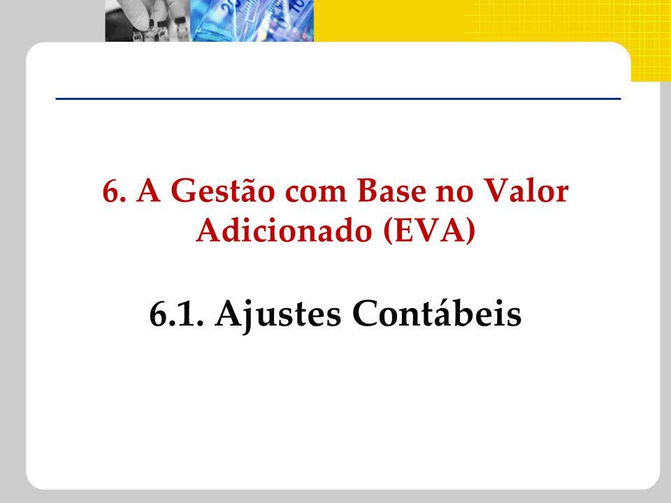 6. A Gestão com Base no Valor Adicionado (EVA) 6.1. Ajustes Contábeis