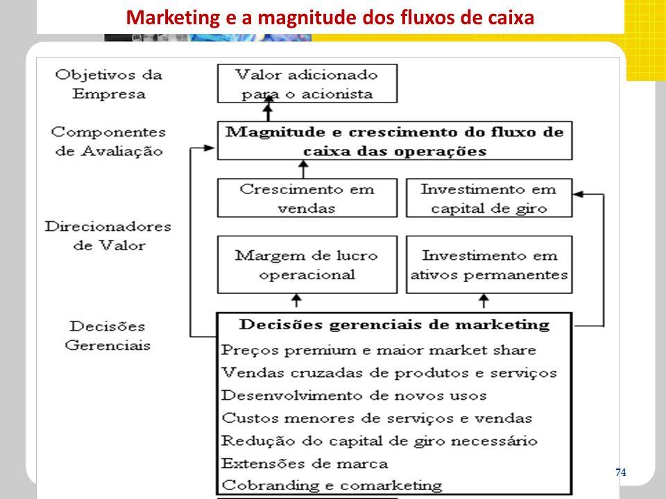 Marketing e a magnitude dos fluxos de caixa 74
