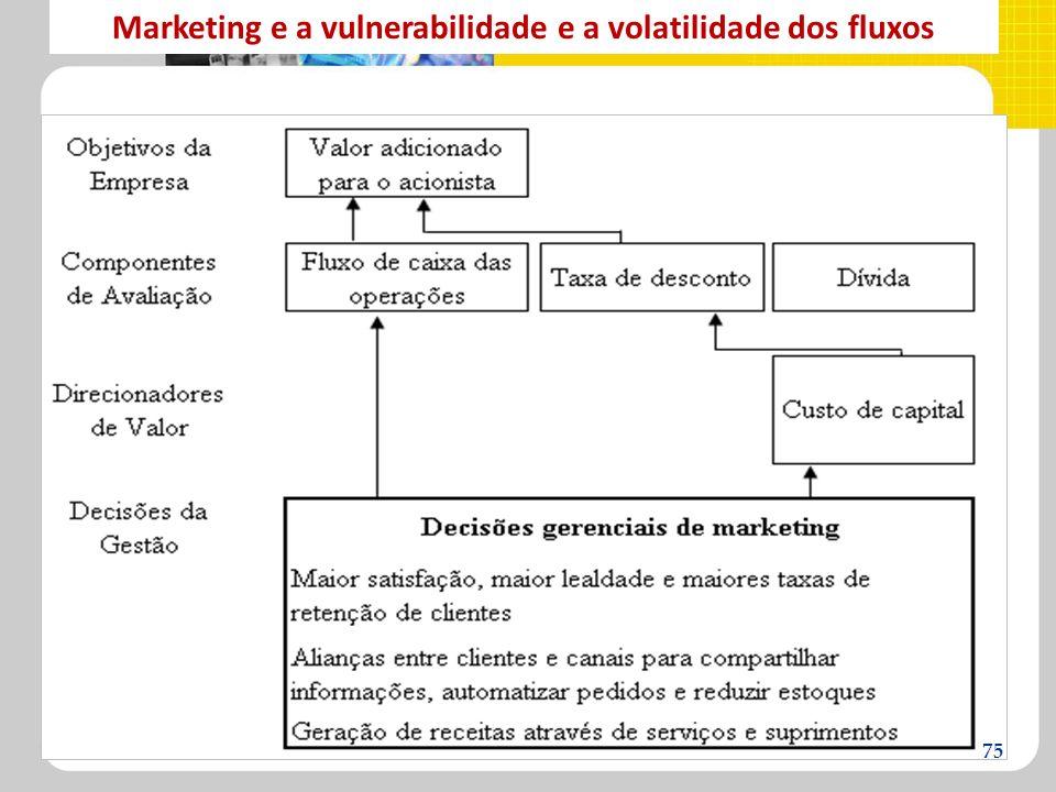 Marketing e a vulnerabilidade e a volatilidade dos fluxos 75
