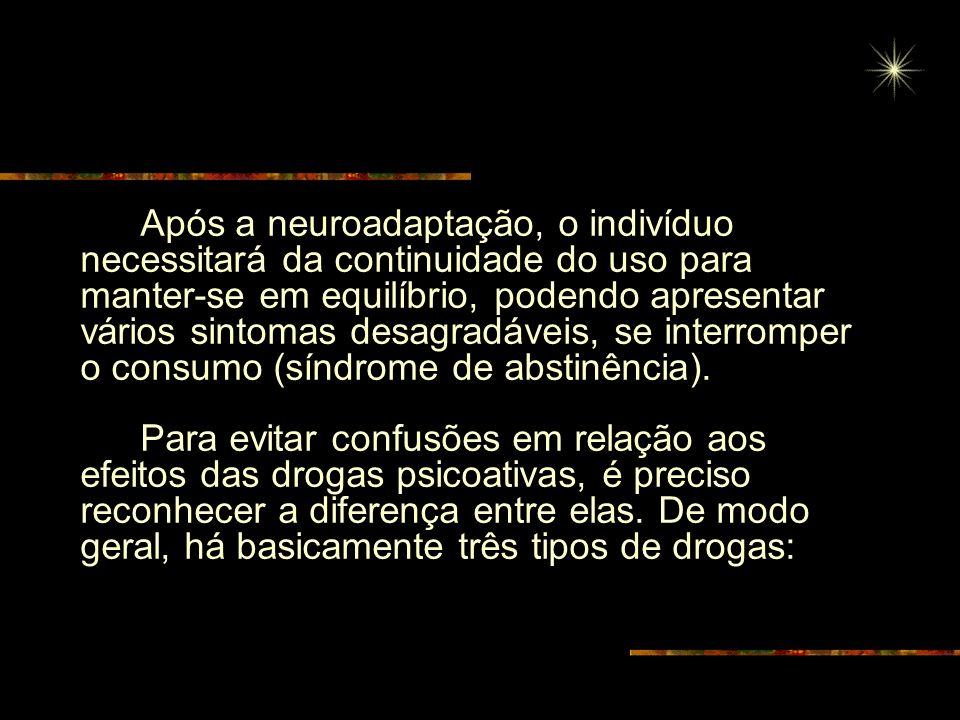 Dependência de drogas As drogas são substâncias capazes de alterar algumas funções cerebrais e proporcionar gratificação (sensação de bem estar) aos u