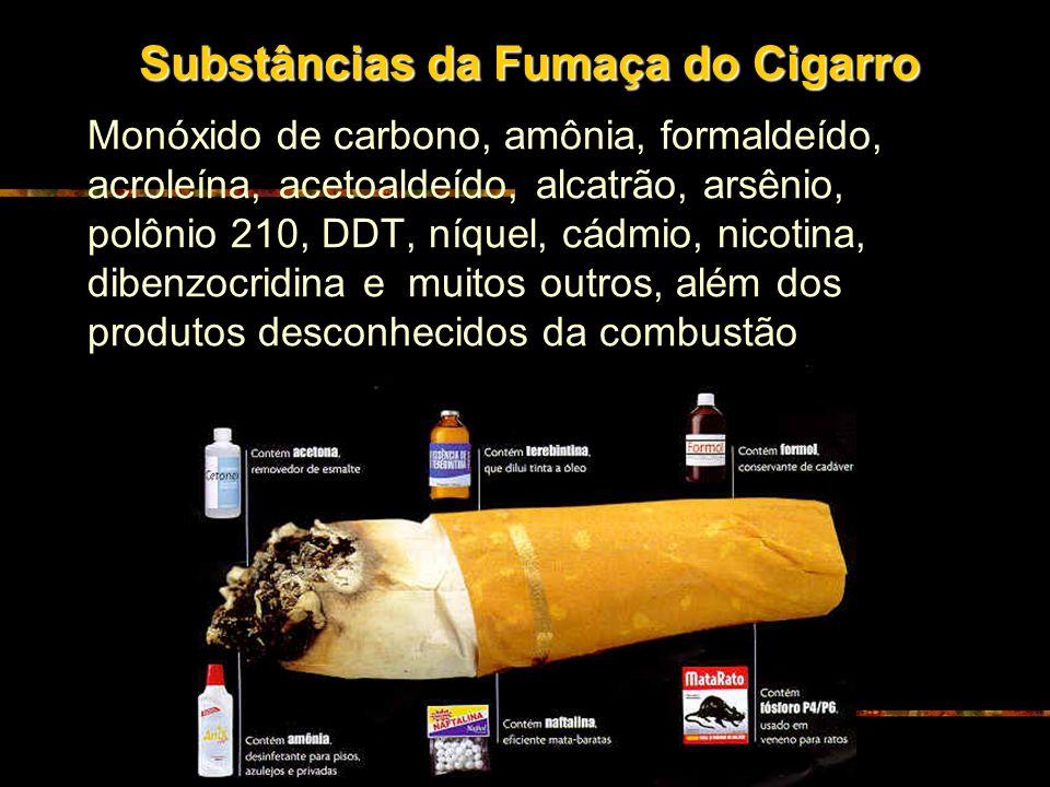 Efeitos do cigarro Efeitos a curto prazo: · Irritação nos olhos · Manifestações nasais · Tosse e cefaléia · Aumento dos problemas alérgicos e cardíaco