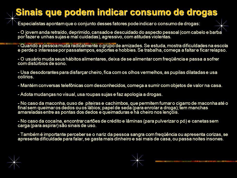 Como detectar se alguém está usando drogas Como detectar se alguém está usando drogas As marcas para descobrir se alguém está usando drogas na família