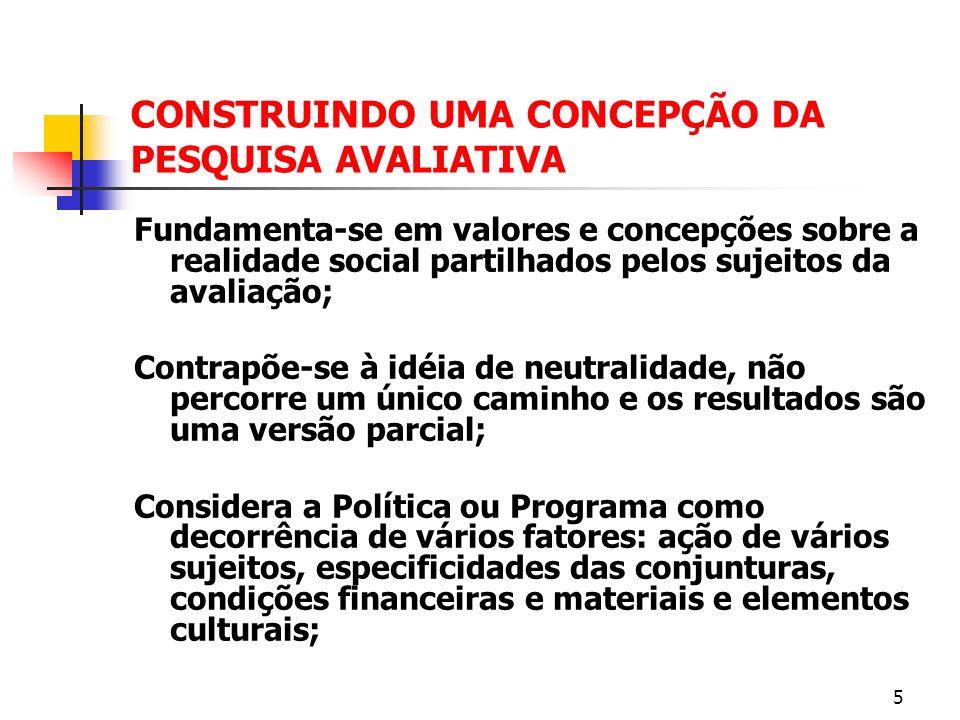 TIPOS DA AVALIAÇÃO CONFORME SEU OBJETO AVALIAÇÃO COMPREENSIVA: combina avaliação de processo e de impacto.