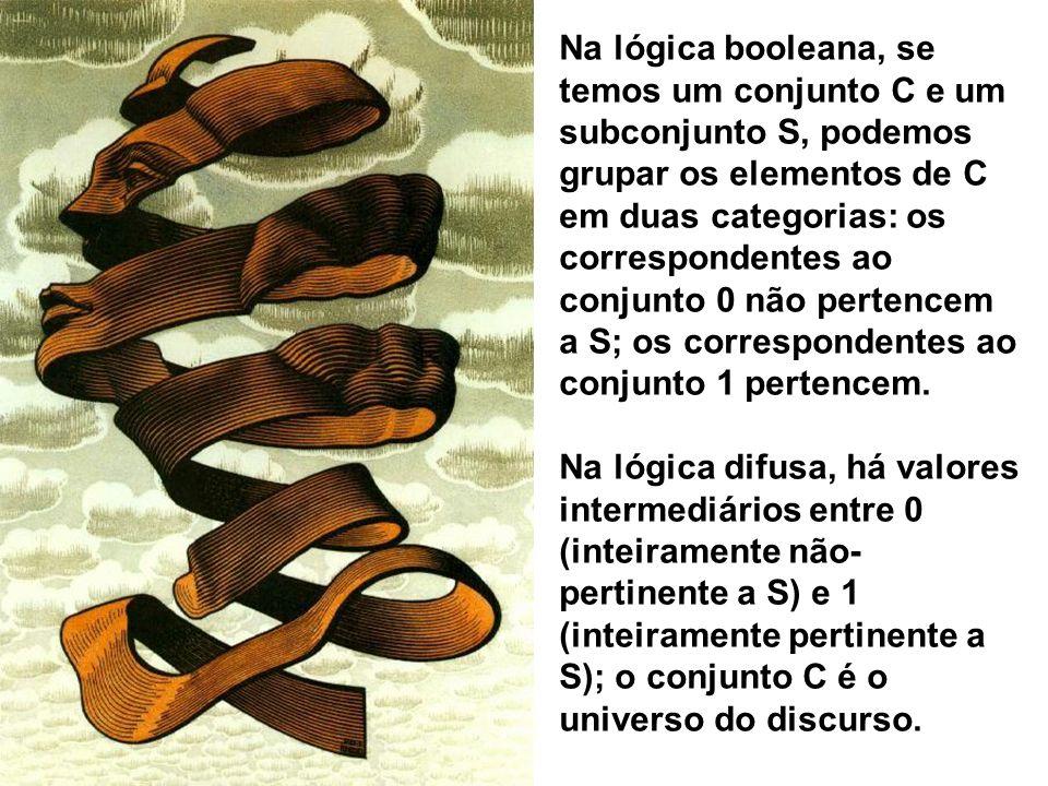 Na lógica booleana, se temos um conjunto C e um subconjunto S, podemos grupar os elementos de C em duas categorias: os correspondentes ao conjunto 0 n