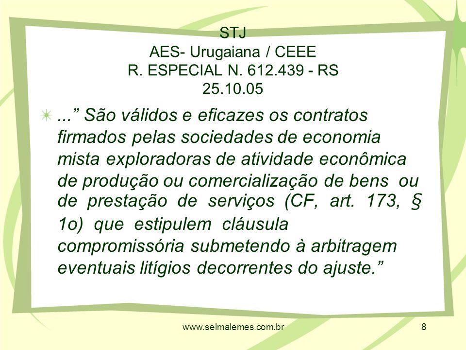 www.selmalemes.com.br8 STJ AES- Urugaiana / CEEE R.