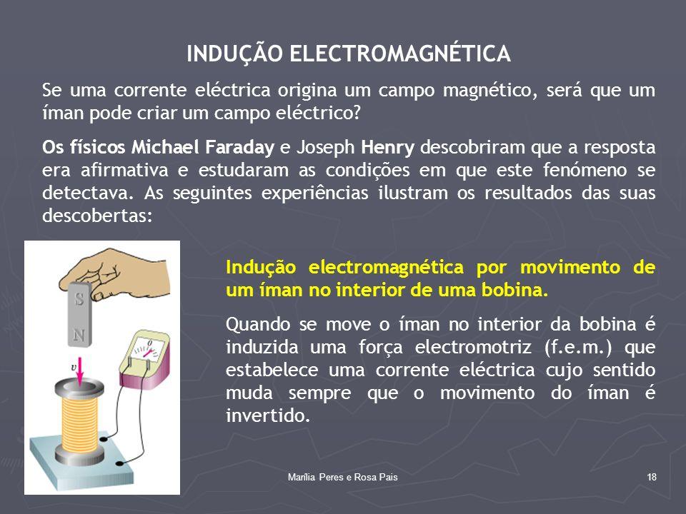 18 INDUÇÃO ELECTROMAGNÉTICA Se uma corrente eléctrica origina um campo magnético, será que um íman pode criar um campo eléctrico? Os físicos Michael F