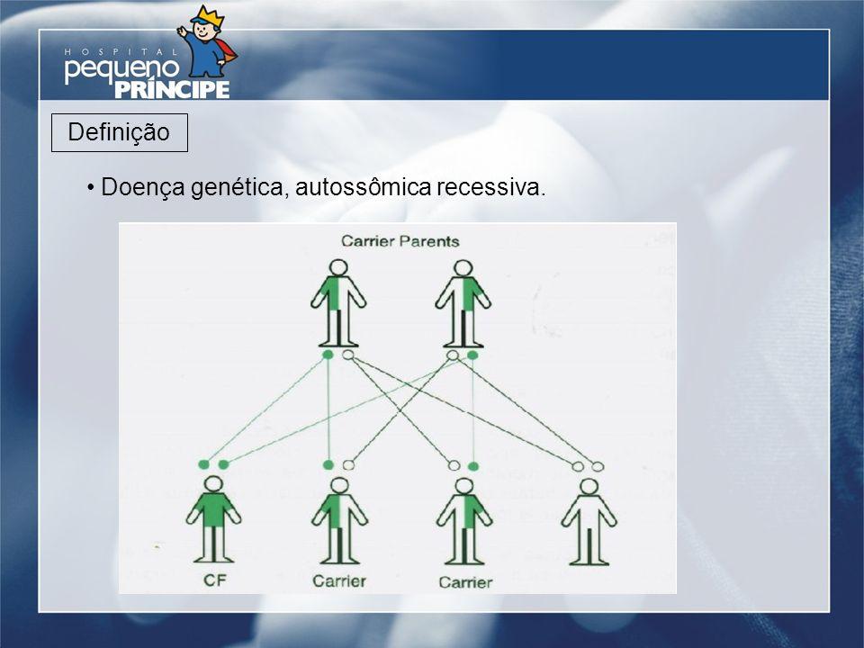 Doença genética, autossômica recessiva. Definição