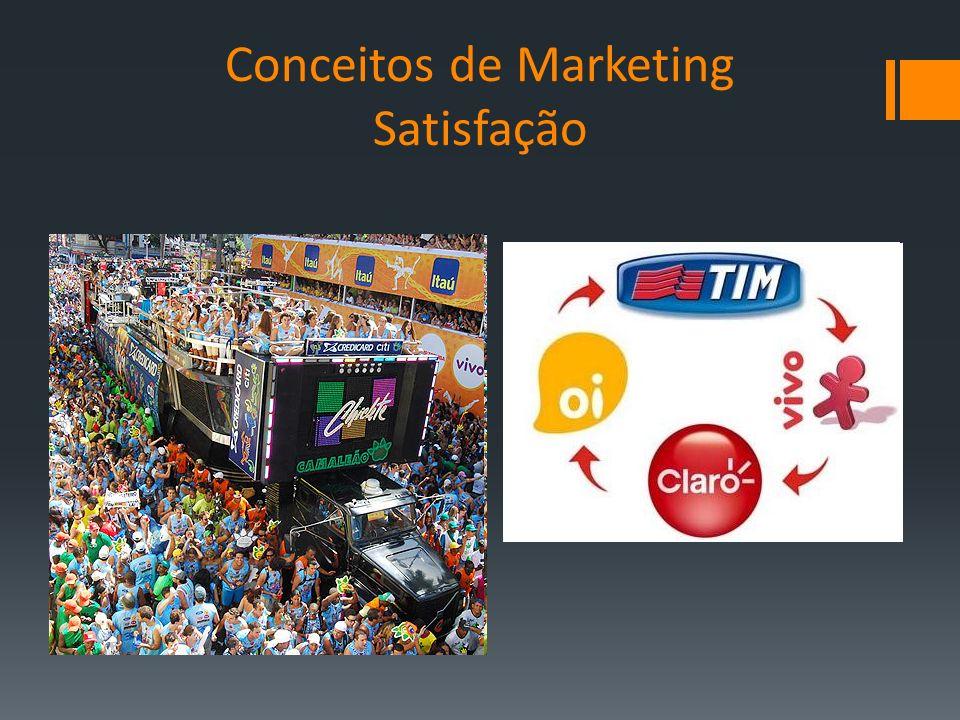 Conceitos de Marketing Satisfação