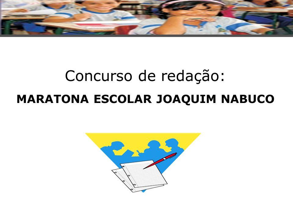 SITE: www.maratonaantares.com.br/regulamento PROMOÇÃO: CAIXA ECONÔMICA FEDERAL/ SEDUCs APOIO CULTURAL: ACADEMIA BRASILEIRA DE LETRAS TEMA: JOAQUIM, SUA VIDA E SUA OBRA.