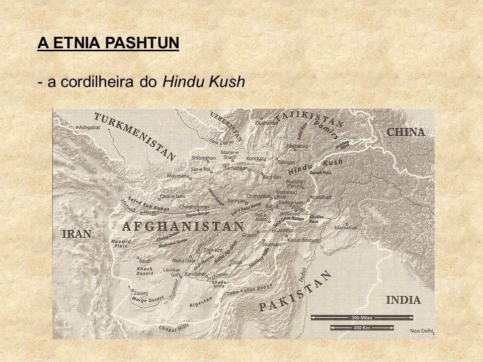 A ETNIA PASHTUN - a cordilheira do Hindu Kush