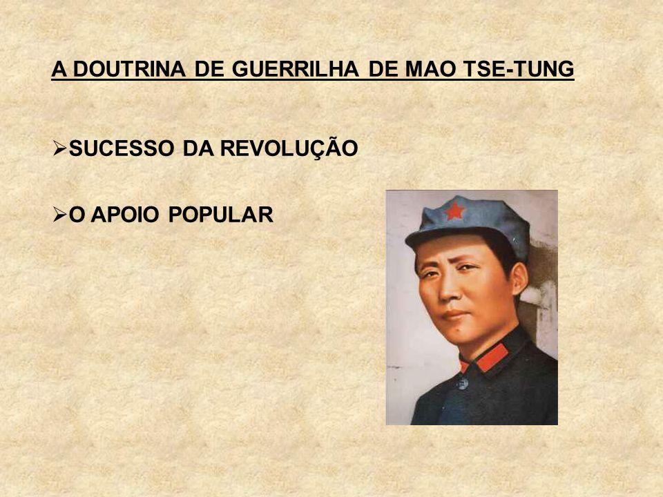 A DOUTRINA DE GUERRILHA DE MAO TSE-TUNG SUCESSO DA REVOLUÇÃO O APOIO POPULAR