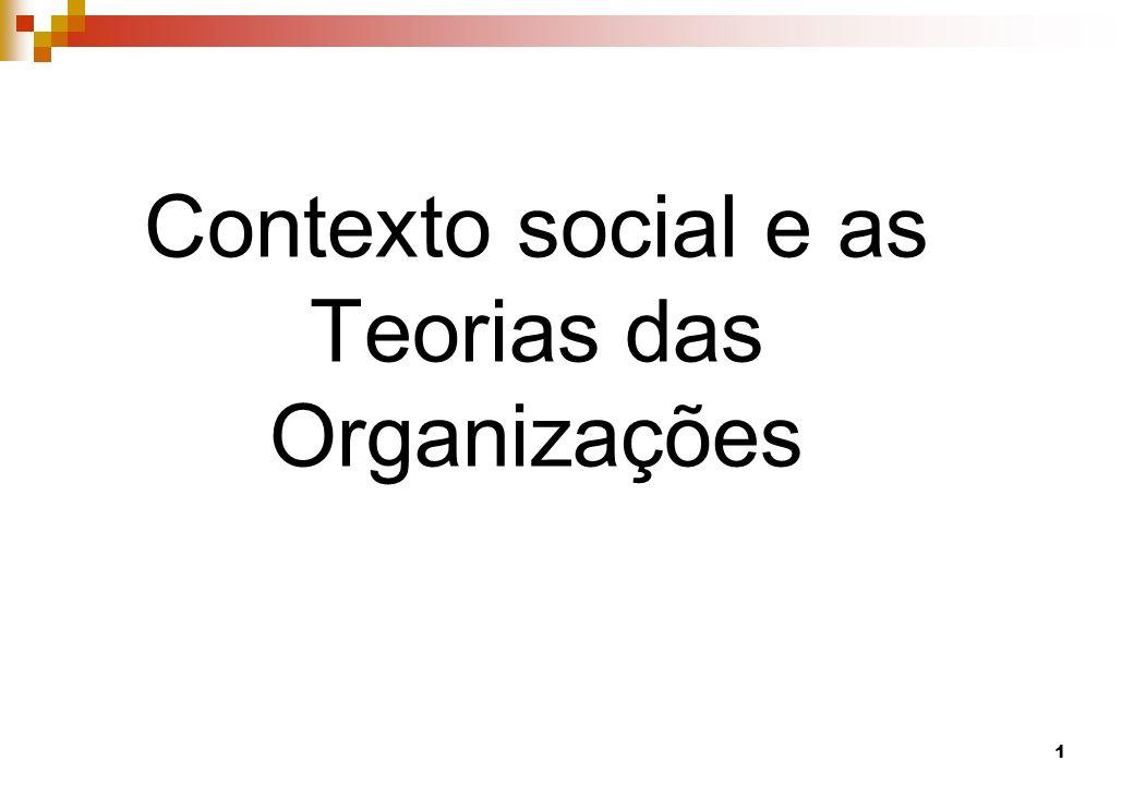 Contexto social e as Teorias das Organizações 1