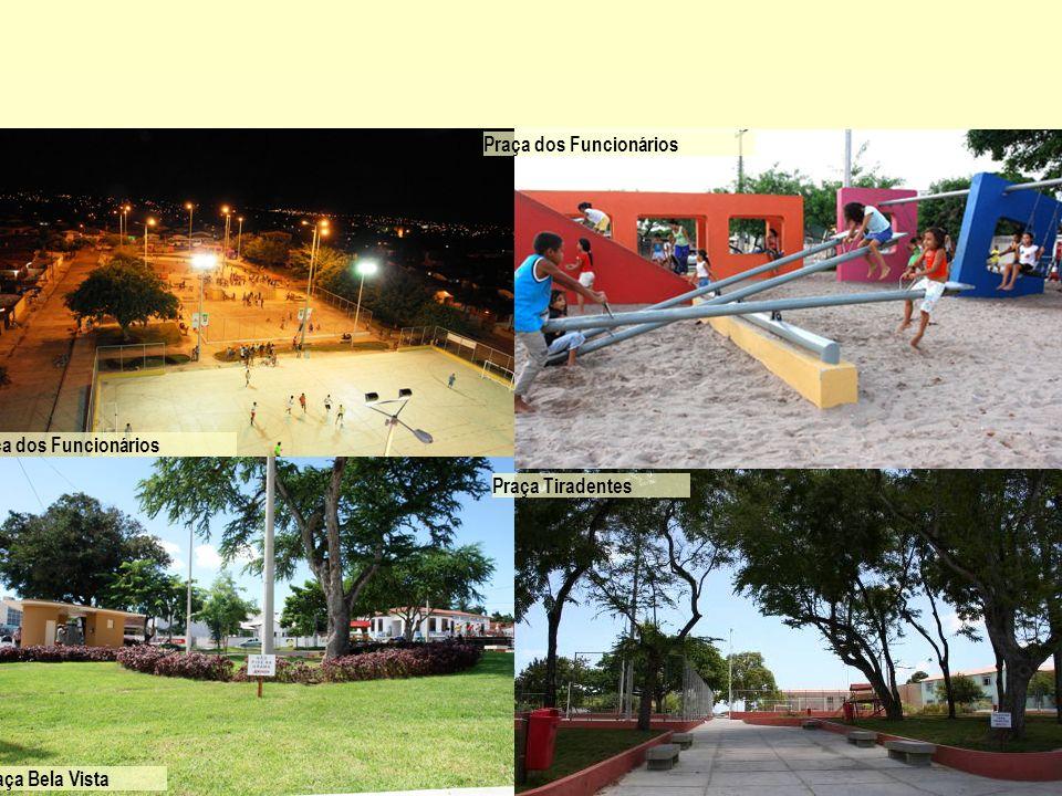 Praça dos Funcionários Praça Bela Vista Praça Tiradentes