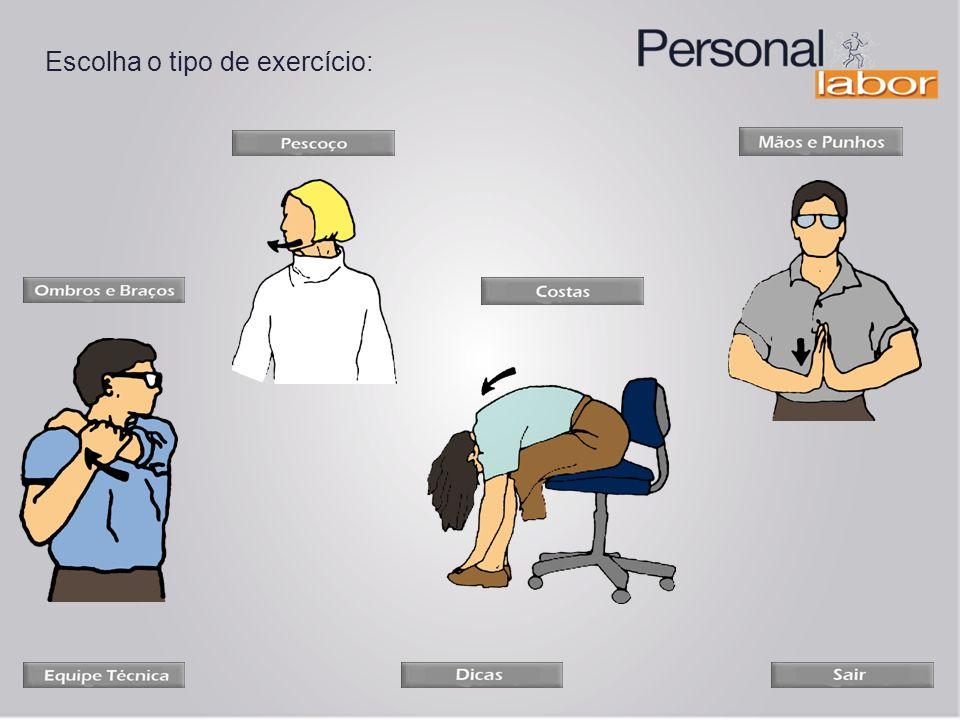 Escolha o tipo de exercício: