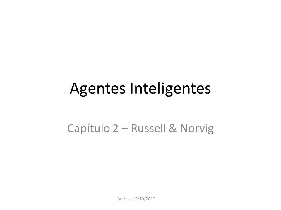 Agentes Inteligentes Capítulo 2 – Russell & Norvig Aula 1 - 17/10/2010
