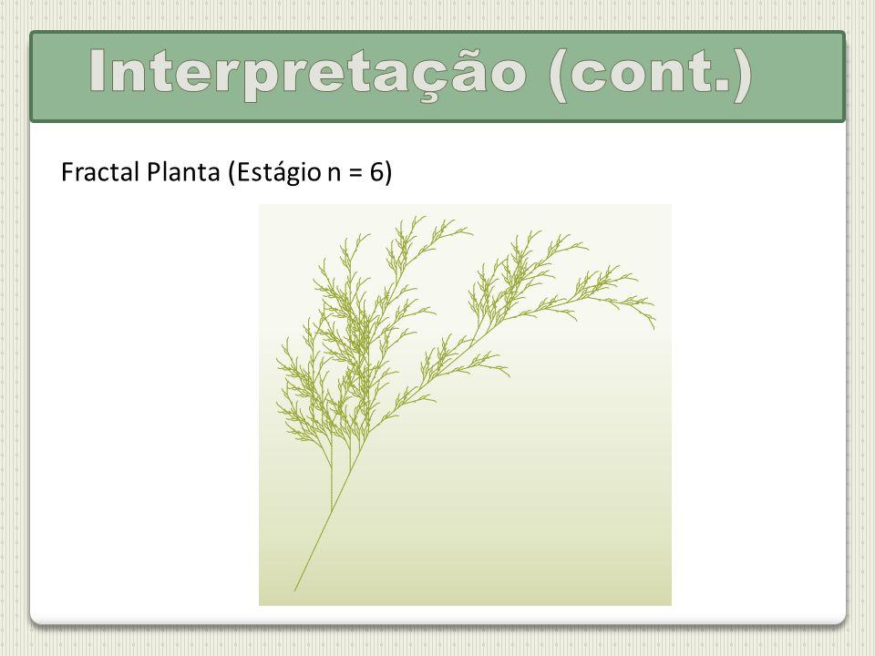 Fractal Planta (Estágio n = 6)